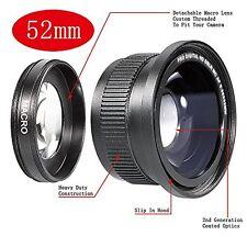 52mm 52 0.35X HD II Macro Fisheye Lens FOR Nikon D60 D70 D80 D90 D40X D100 D3000