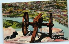 1940s Confederate Gun Battery Lookout Chattanooga Tennessee Vintage Postcard C43