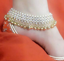 Indian Women Anklets Gold Plated Belly Dance Jewelry Ankle Traditional Foot Wear