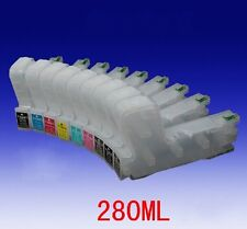 280ml refillable ink cartridge with auto reset chip for EP 3880 printer; 9pcs