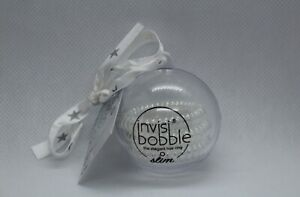 Invisibobble Slim 3 Pack Clear in Gift Giving Ornament Holiday NEW