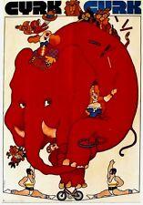 Original vintage poster POLISH CYRK CIRCUS ELEPHANT 1972