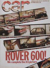 CAR 10/1985 featuring Lotus Esprit Turbo, Excel, Peugeot 205 T16, BMW M635CSi
