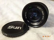 Sun  28mm f/2.5 Canon FD Fit Fast Wide Angle Lens  full working order