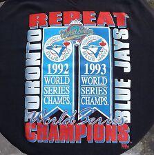 TORONTO BLUE JAYS WORLD SERIES 1992-93 Repeat Champions Mens Crewneck Sweater XL