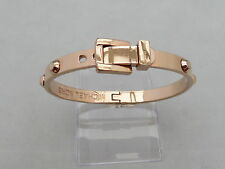 Michael Kors Rose Gold Tone placcato con borchie Bracciale Bangle ORIGINALE