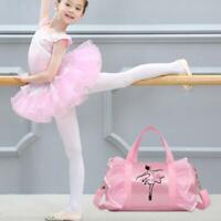 Girl Danceer Dance Bag Kids Gymnastics Dance Ballet Swim Duffle Tote Bag Backbag