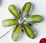 MAGNETIC GLASS CRYSTAL STONE FLOWERS CURTAIN NET VOILE TIEBACKS £8.90  PAIR