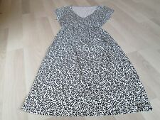 BODEN EVERYDAY BLACK & WHITE CASUAL CURVED WAIST DRESS 8R