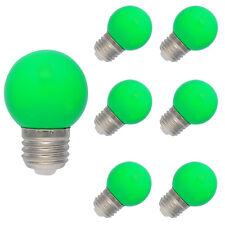6X E27 Farbig LED Leuchtmittel Birnenform Bunt Tropfenlampe Glühbirnen Grün