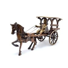 European Horse Carriage / Horse Cart Ornament Brass Statue Figurine Home Decor
