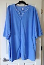 Croft and Barrow Women's Terry duster robe plus size 3X blue