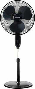 Honeywell Double Blade  16 Pedestal Fan Black With  Remote Control, Oscillation,