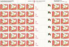 US Lung Association Christmas Seals MNH sheet Doves Flowers sheet of 36 1990