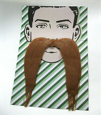 Long Brown Mustache Adult Halloween Costume Accessory
