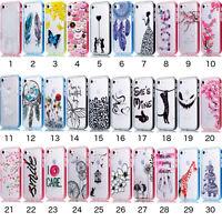 Hybrid Soft Hard Edge Plastic Case Cover For Apple iPhone 5 5S SE 6 6S 7 8 Plus