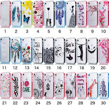Hybride Doux Rigide Edge Coque Plastique Housse Apple iPhone 5 5S SE 6 6S 7 Plus