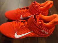 Nike Alpha Menace Varsity 2 Football Lacrosse Cleat Black Size US 10 Orange