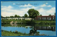 Sewage Disposal Plant, Marion, Indiana - Linen Postcard