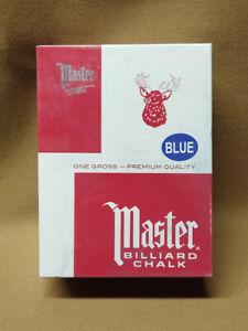 Master Billiards Pool Cue Chalk 144 Blue Pieces Large Box