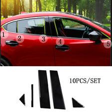 Black Pillar Posts For Mazda 3 Axela 2014-2017 10pc Set Cover Door Trim Window