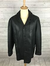 Mens Marks & Spencer  Leather Coat/Jacket - Medium - Black - Great Condition