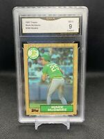 MARK MCGWIRE 1987 Topps #366 Rookie Card Vintage RC GMA 9 OAKLAND A's Mint