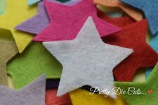 20 Felt Stars, 4cm, 1.57 inches, die cut star shape Craft Embellishments