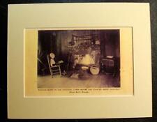 MARTHA BERRY IN CABIN, BERRY SCHOOLS, MOUNT BERRY SCHOOL, GEORGIA, GA., Print