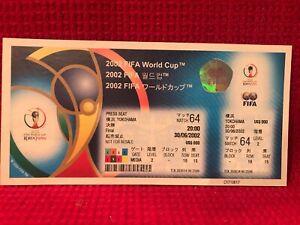 UNUSED 2002 FIFA WORLD CUP JAPAN FINAL TICKET Brazil vs Germany! Ronaldo 2 goals