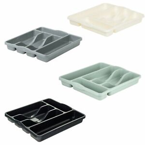 Wham Plastic 5 Compartment Cutlery Holder Organiser Drawer Tray