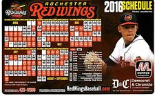 Jose Berrios Photo on Rochester Red Wings 2016 Magnet Schedule (Minnesota Twins)