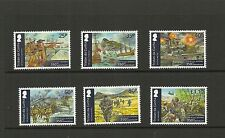 TRISTAN DA CUNHA-SG1113-1118 2014 ROYAL MARINES 350TH ANNIVERSARY SET MNH