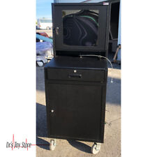 Mobile Security LCD Computer Cabinet Enclosure Portable Cart