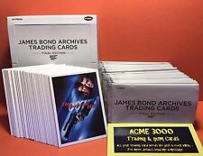 Rittenhouse James Bond Archives Final Edition FULL Set of 83 Cards + Box & Packs