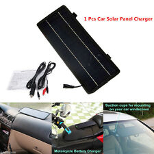 12V-5V 4.5W Portable Solar Car Boat Power Sunpower Solar Panel Battery Charger