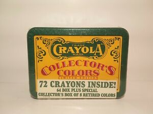 Vintage CRAYOLA CRAYONS Collector's Limited Edition Tin Box w/ 8 Retired Colors