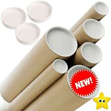 More details for quality cardboard postal tubes + end caps - all sizes a0 a1 a2 a3 a4 x 50mm 2