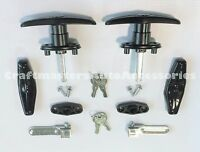 Truck cap Framed rear door T-handles # T311 complete set + 2 Extra keys FREE!