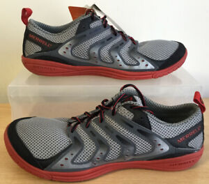 Mens Merrell Bare Access Smoke/Red Running Shoes Trainers UK Size 9 EU 43.5 NEW