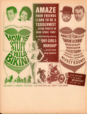 How to Stuff a Wild Bikini Original Herald 1965 Movie starting Annette Funicello