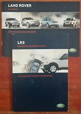 Land Rover LR3 Navigation and Telephone Systems Manual with Case