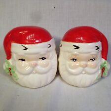 Santa Claus Salt & Pepper Shakers Ceramic Christmas Holiday Table Decor