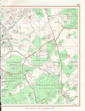 1964 VINTAGE Londra Mappa stradale-Leatherhead, Walton sulla collina, Headley Heath