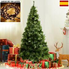 Arbol de navidad pino verde clásico 120, 150, 180, 210cm + LUZ LED 100 Luces