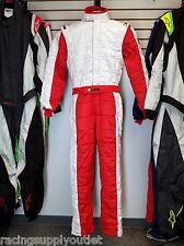 Sparco/Lico Racing Suit Red/White  Size Medium 52   SFI and FIA Rated   New