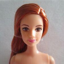 SALE! NEW 2015 Barbie Fashionista Doll ~ Red Auburn Hair Redhead Freckles ~ Nude