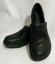 BOC Born Concepts US 7 EUR 38 Black Leather Shimmer Nurse Peggy Work Clogs Shoes