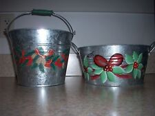 New Set of 2 Metal Buckets