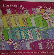 American Girl Crafts 12x12 Super Paper Pad 150 Pieces 50 Designs 3 of Each NWT